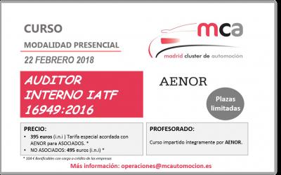 CURSO AUDITOR INTERNO IATF 16949:2016